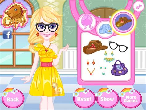 My little pony style dress up game