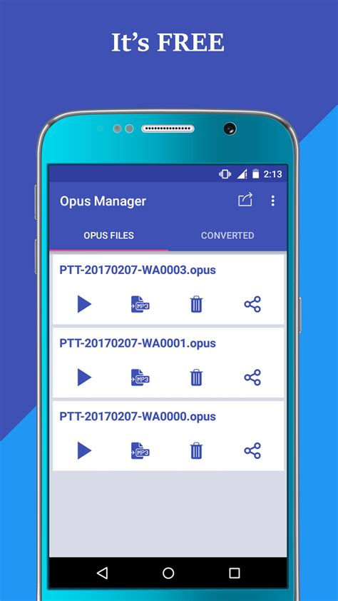 Voice & Audio Manager for WhatsApp , OPUS to MP3 for
